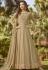 beige soft georgette long embroidered anarkali suit 20018