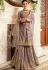 grey satin net embroidered sharara style pakistani suit 15301