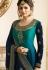 drashti dhami blue shade satin georgette embroidered churidar suit 3208