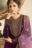 drashti dhami purple satin georgette embroidered churidar suit 3206
