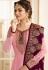 drashti dhami pink satin georgette embroidered churidar suit 3203