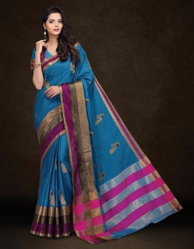 Mysha Malhar Blue Designer Saree