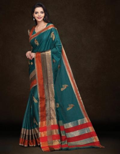 Mysha Tender Green Designer Saree