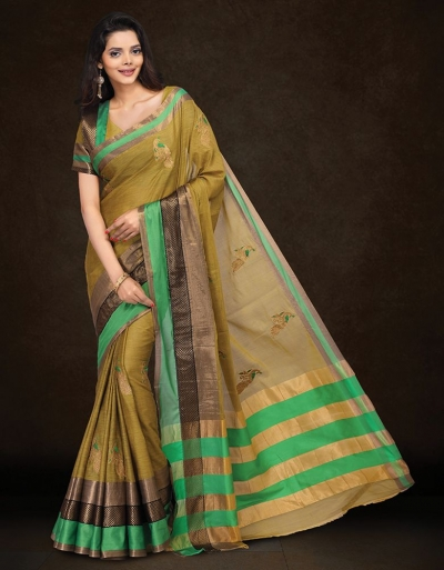 Mysha Malhar Gold Designer Saree