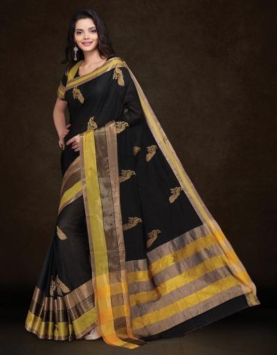 Mysha Malhar Black Designer Saree