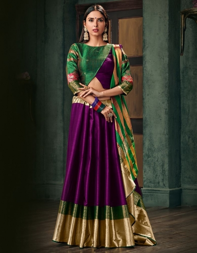 Amani Wine Magenta Wedding Wear Cotton Saree