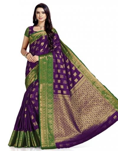 Paneri Wine Magenta Wedding  Wear Cotton Saree    Saree