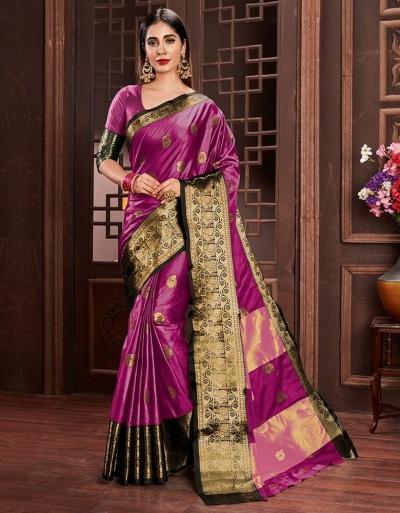 Ashra Rani Pink Cotton Saree