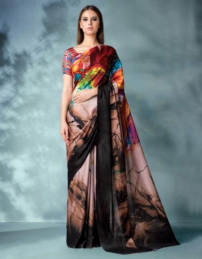 Inara Digital Printed Earthy Saree