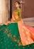 green taffeta embroidered lehenga choli 1002