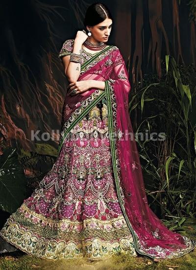 Wine colour Bridal lehenga choli