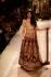 Jacqualine Fernandz Maroon and beige bridal lehenga choli