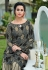 grey silk digital printed long gown 9006