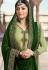 drashti dhami green satin georgette lehenga style suit 3304