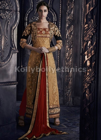 Shraddha Kapoor Beige and black salwar