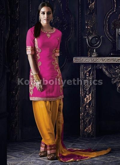Shraddha Kapoor Pink and yellow salwar suit