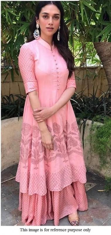Bollywood Aditi Rao Hydari pink lehenga choli