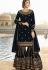 drashti dhami navy blue satin georgette embroidered sharara style suit 3604